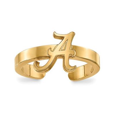 Alabama Crimson Tide Gold Plated Toe Ring | Logo Art | GP029UAL