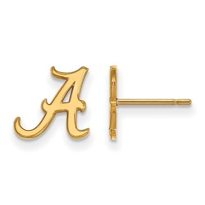 Alabama Crimson Tide A 14K Gold Post Earrings | Logo Art | 4Y008UAL