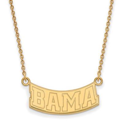 Alabama Crimson Tide 14K Gold Bama Necklace | Logo Art | 4Y073UAL-18