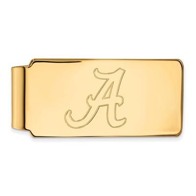 Alabama Crimson Tide A 14K Gold Money Clip | Logo Art | 4Y025UAL