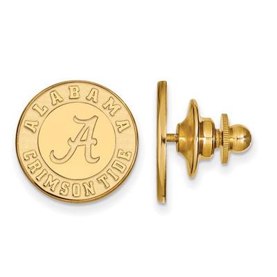 Alabama Crimson Tide Emblem 14K Gold Lapel Pin | Logo Art | 4Y051UAL