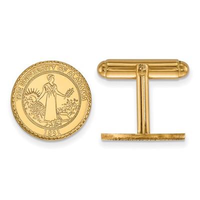 Alabama Crimson Tide 14K Gold Crest Cufflinks | Logo Art | 4Y081UAL