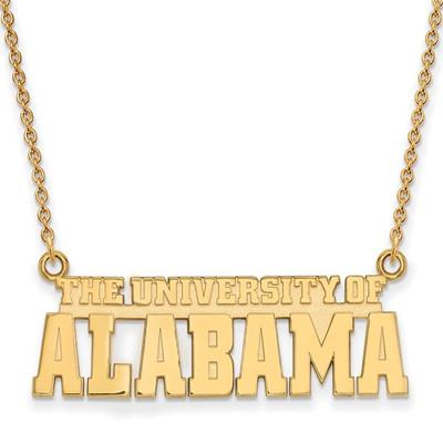 Alabama Crimson Tide 14K Gold Necklace | Logo Art | 4Y084UAL