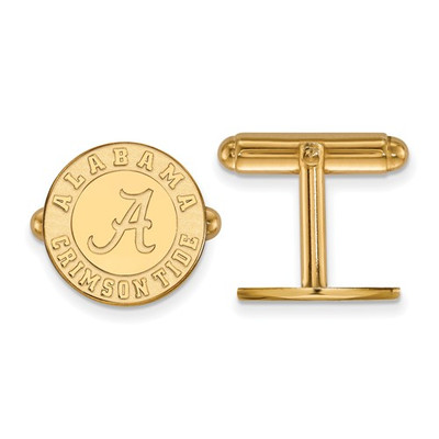 Alabama Crimson Tide Circle 14K Gold Cufflinks | Logo Art | 4Y052UAL