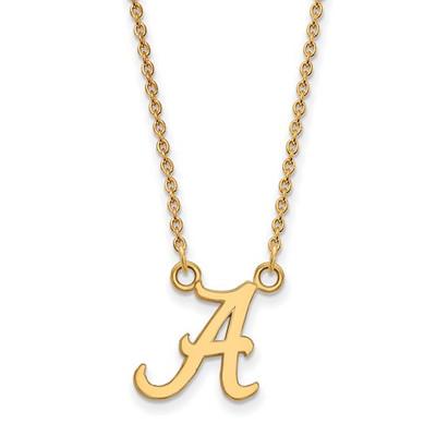 Alabama Crimson Tide 14K Gold A Pendant Necklace | Logo Art | 4Y015UAL-18