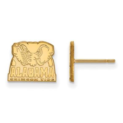 Alabama Crimson Tide Elephant 14K Gold Post Earrings | Logo Art | 4Y066UAL