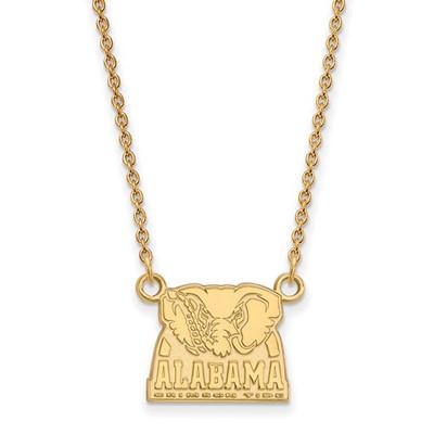 Alabama Crimson Tide Elephant 14K Gold Necklace | Logo Art | 4Y068UAL-18
