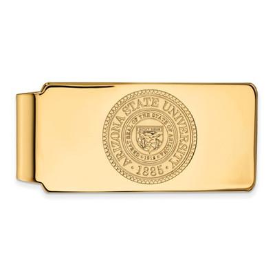 Arizona State Crest Sun Devils 14K Gold Money Clip | Logo Art | 4Y047AZS