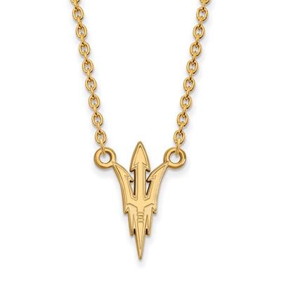 Arizona State Sun Devils Pitchfork 14K Gold Necklace | Logo Art | 4Y012AZS-18