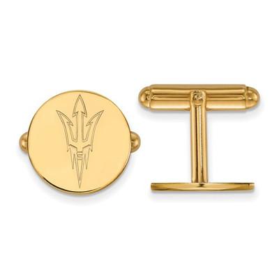 Arizona State Sun Devils Pitchfork 14K Gold Cufflinks | Logo Art | 4Y010AZS