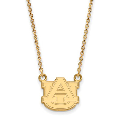 Auburn Tigers AU 14K Gold Pendant Necklace | Logo Art | 4Y015AU-18