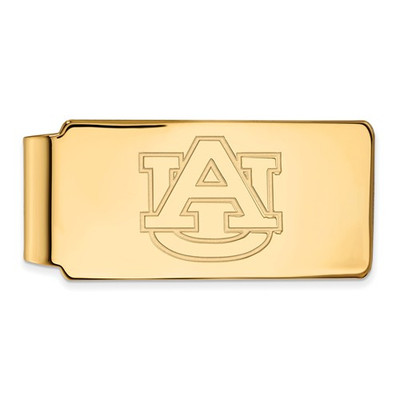 Auburn Tigers AU Logo 14K Gold Money Clip | Logo Art | 4Y025AU
