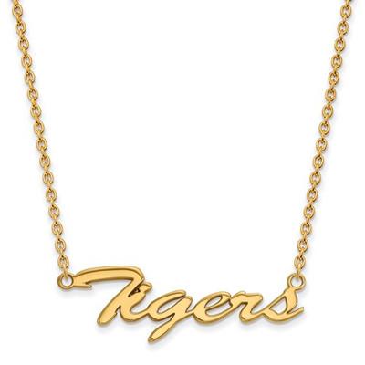 Clemson Tigers 14K Gold Script Necklace | Logo Art | 4Y043CU-18