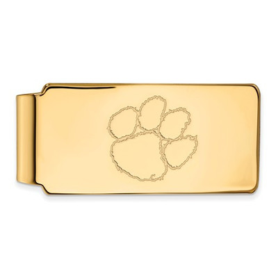 Clemson Tigers 14K Gold Tiger Paw Money Clip | Logo Art | 4Y025CU
