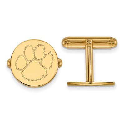 Clemson Tigers 14K Gold Tiger Paw Cufflinks | Logo Art | 4Y012CU