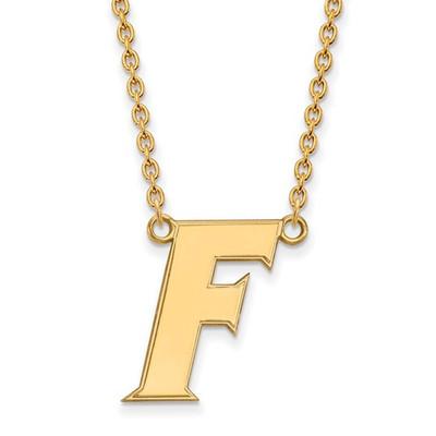 Florida Gators F Logo 14K Gold Pendant Necklace   Logo Art   4Y066UFL-18