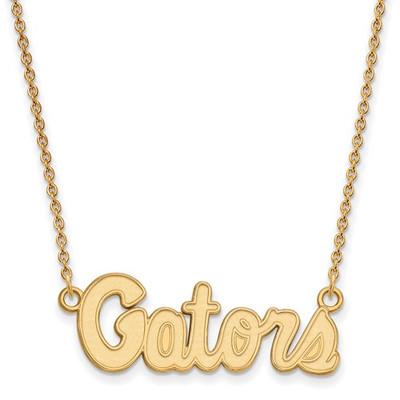 Florida Gators 14K Gold Pendant Necklace   Logo Art   4Y049UFL-18