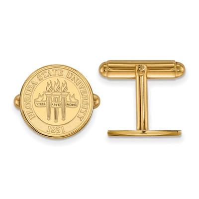 FSU Seminoles Crest 14K Gold Cufflinks | Logo Art | 4Y080FSU
