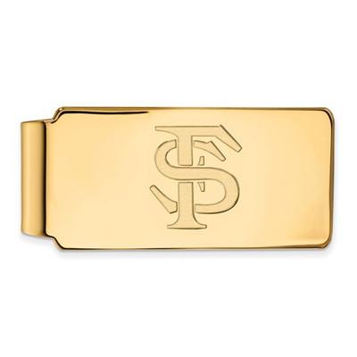 FSU Seminoles FS Logo 14K Gold Money Clip | Logo Art | 4Y025FSU