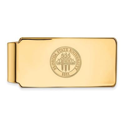 FSU Crest Seminoles 14K Gold Money Clip | Logo Art | 4Y081FSU