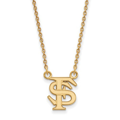 Florida State FS Seminoles 14K Gold Necklace | Logo Art | 4Y015FSU-18