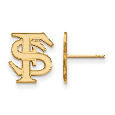 Florida State Seminoles FS 14K Gold Post Earrings | Logo Art | 4Y009FSU