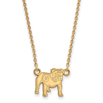 Georgia Bulldogs Uga Mascot 14K Gold Necklace | Logo Art | 4Y066UGA-18