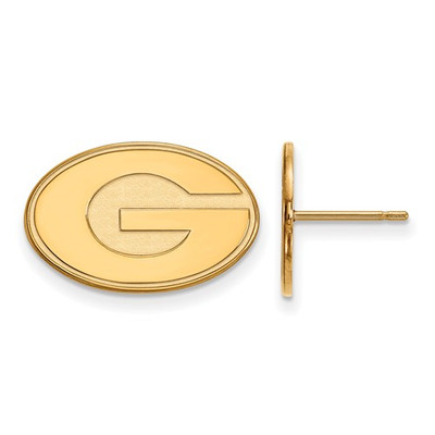 Georgia Bulldogs G Logo 14K Gold Post Earrings | Logo Art | 4Y009UGA