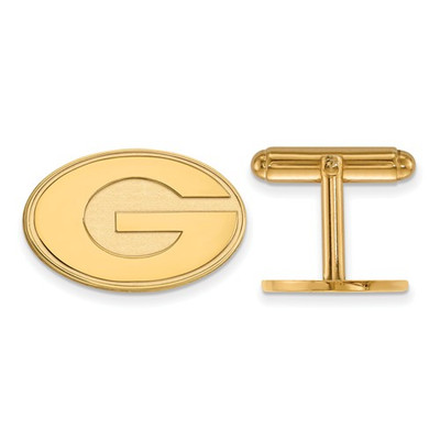 Georgia Bulldogs G Logo 14K Gold Cufflinks | Logo Art | 4Y012UGA