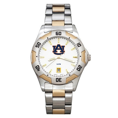 Auburn Tigers Men's All Pro Two Tone Watch | Logo Art | AU153