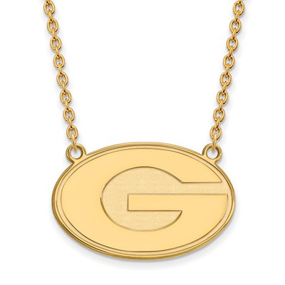 Georgia Bulldogs G Logo 14K Gold Pendant Necklace | Logo Art | 4Y016UGA-18