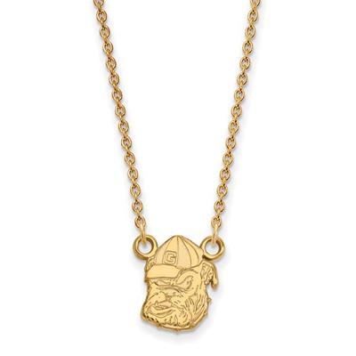 Georgia Bulldogs Uga 14K Gold Pendant Necklace | Logo Art | 4Y054UGA-18