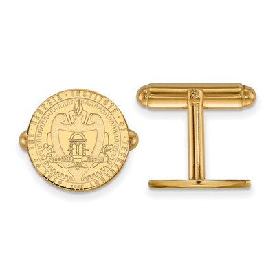 Georgia Tech Crest 14K Gold Yellow Jackets Cufflinks | Logo Art | 4Y058GT