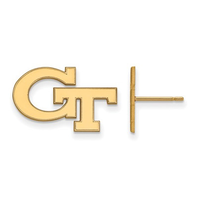 Georgia Tech GT Yellow Jackets 14K Gold Post Earrings | Logo Art | 4Y061GT