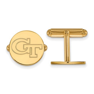 Georgia Tech GT Logo 14K Gold Yellow Jackets Cufflinks | Logo Art | 4Y064GT