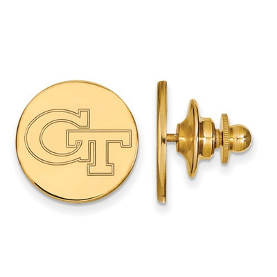 Georgia Tech GT Logo 14K Gold Yellow Jackets Lapel Pin | Logo Art | 4Y062GT