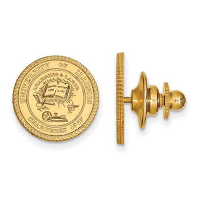 Illinois School Crest Fighting Illini 14K Gold Lapel Pin | Logo Art | 4Y066UIL