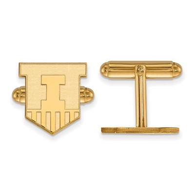 Illinois Fighting Illini Shield 14K Gold Cufflinks | Logo Art | 4Y052UIL