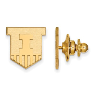 Illinois Fighting Illini Shield 14K Gold Lapel Pin | Logo Art | 4Y051UIL