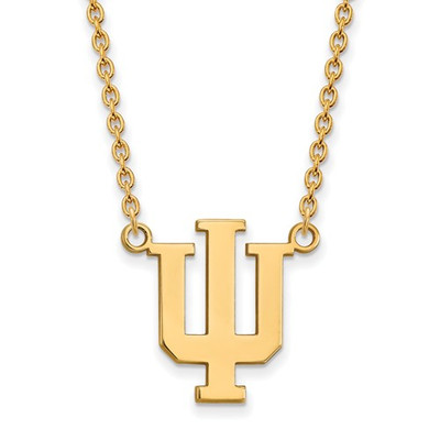 Indiana Hoosiers 14K Gold Pendant Necklace | Logo Art | 4Y016IU-18