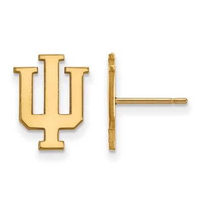 Indiana Hoosiers 14K Gold Post Earrings | Logo Art | 4Y009IU