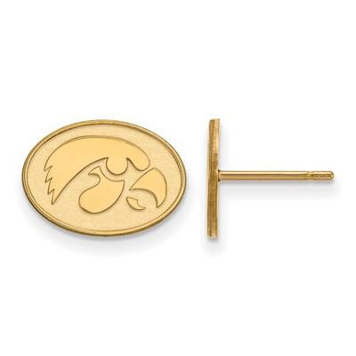 Iowa Hawkeyes 14K Gold Post Earrings | Logo Art | 4Y050UIA