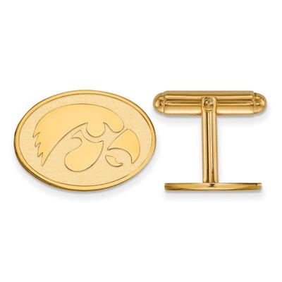 Iowa Hawkeyes Mascot 14K Gold Cufflinks | Logo Art | 4Y053UIA