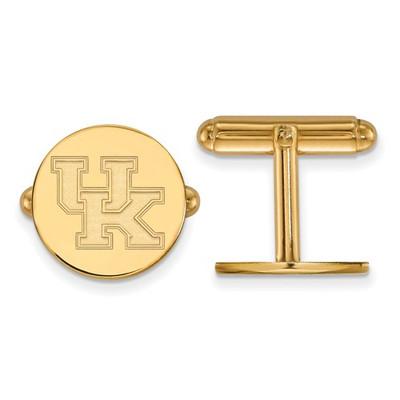 Kentucky Wildcats UK Logo 14K Gold Cufflinks | Logo Art | 4Y012UK