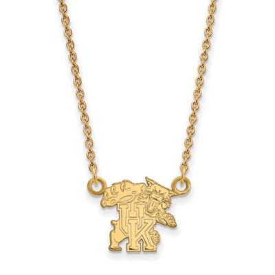 Kentucky Wildcats Mascot 14K Gold Necklace | Logo Art | 4Y056UK-18