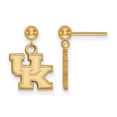 Kentucky Wildcats UK 14K Gold Dangle Earrings | Logo Art | 4Y010UK