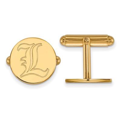 Louisville Cardinals L Logo 14K Gold Cufflinks | Logo Art | 4Y068UL