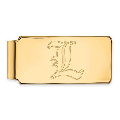 Louisville Cardinals L Logo 14K Gold Money Clip | Logo Art | 4Y019UL