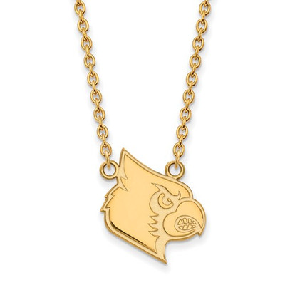 Louisville Cardinals 14K Gold Pendant Necklace | Logo Art | 4Y051UL-18