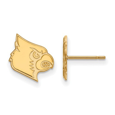 Louisville Cardinals 14K Gold Post Earrings | Logo Art | 4Y046UL